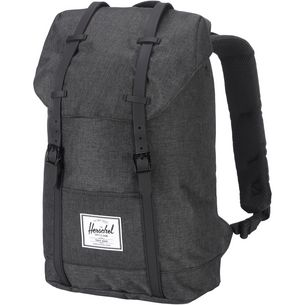 Herschel Retreat Daypack black crosshatch-black rubber