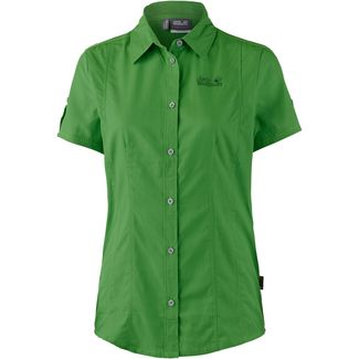 Jack Wolfskin BEYOND Kurzarmbluse Damen basil green