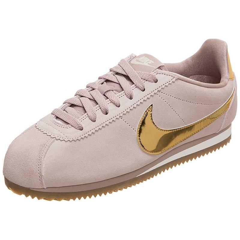 buy popular 78296 b569b ... shopping nike classic cortez leather sneaker damen violett gold ee806  0a24c