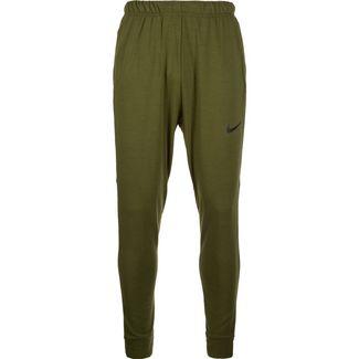 Nike Dry Trainingshose Herren oliv / schwarz