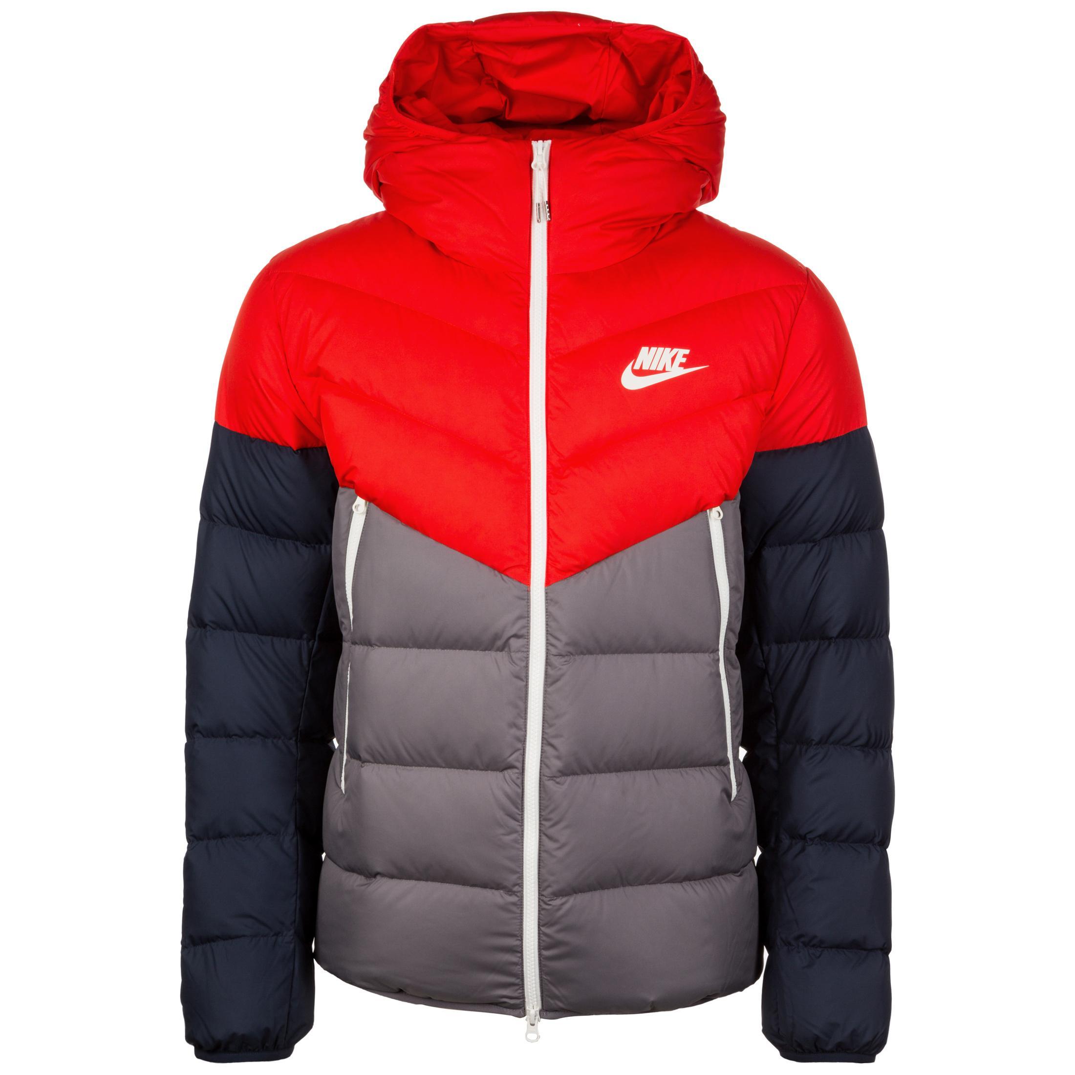 Nike Sportswear Windrunner Daunenjacke Herren rot grau schwarz im Online Shop von SportScheck kaufen