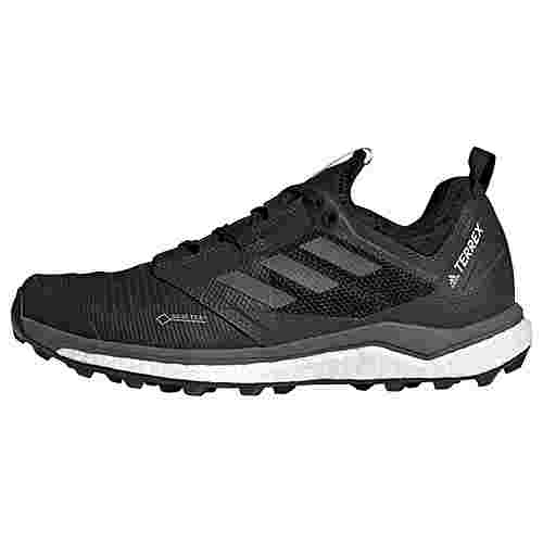 adidas TERREX Agravic XT GTX Schuh Trailrunning Schuhe Damen Core Black / Grey Five / Ash Green