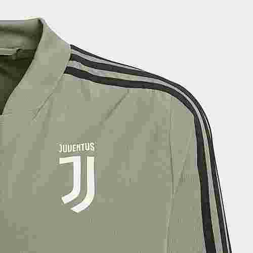adidas Juventus Turin Präsentationsjacke Trainingsjacke Kinder Brown / Black