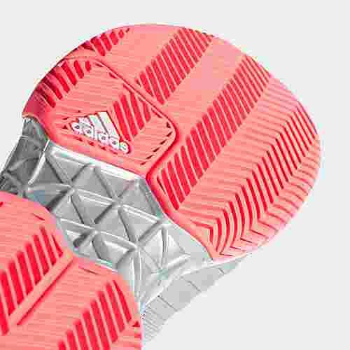 super popular 8cd64 63ab0 adidas Barricade 2018 Tennisschuhe Damen Grey  Ftwr White  Flash Red