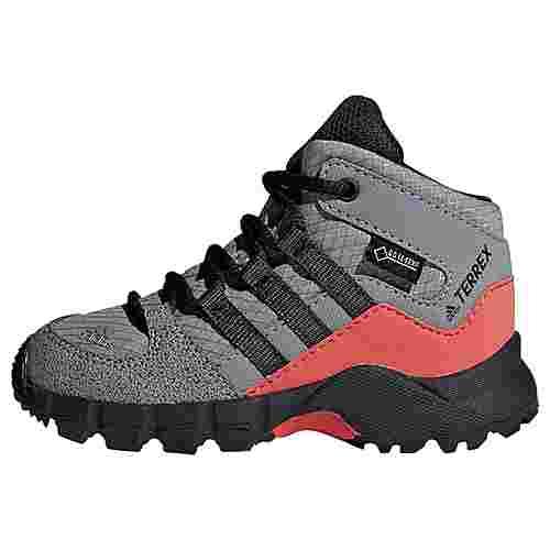 adidas Terrex Mid GTX Schuh Wanderschuhe Kinder Grey Three / Carbon / Matte Silver