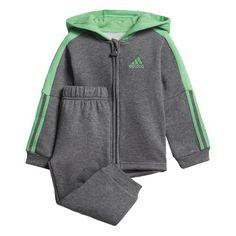 adidas Trainingsanzug Dark Grey Heather / Energy Green