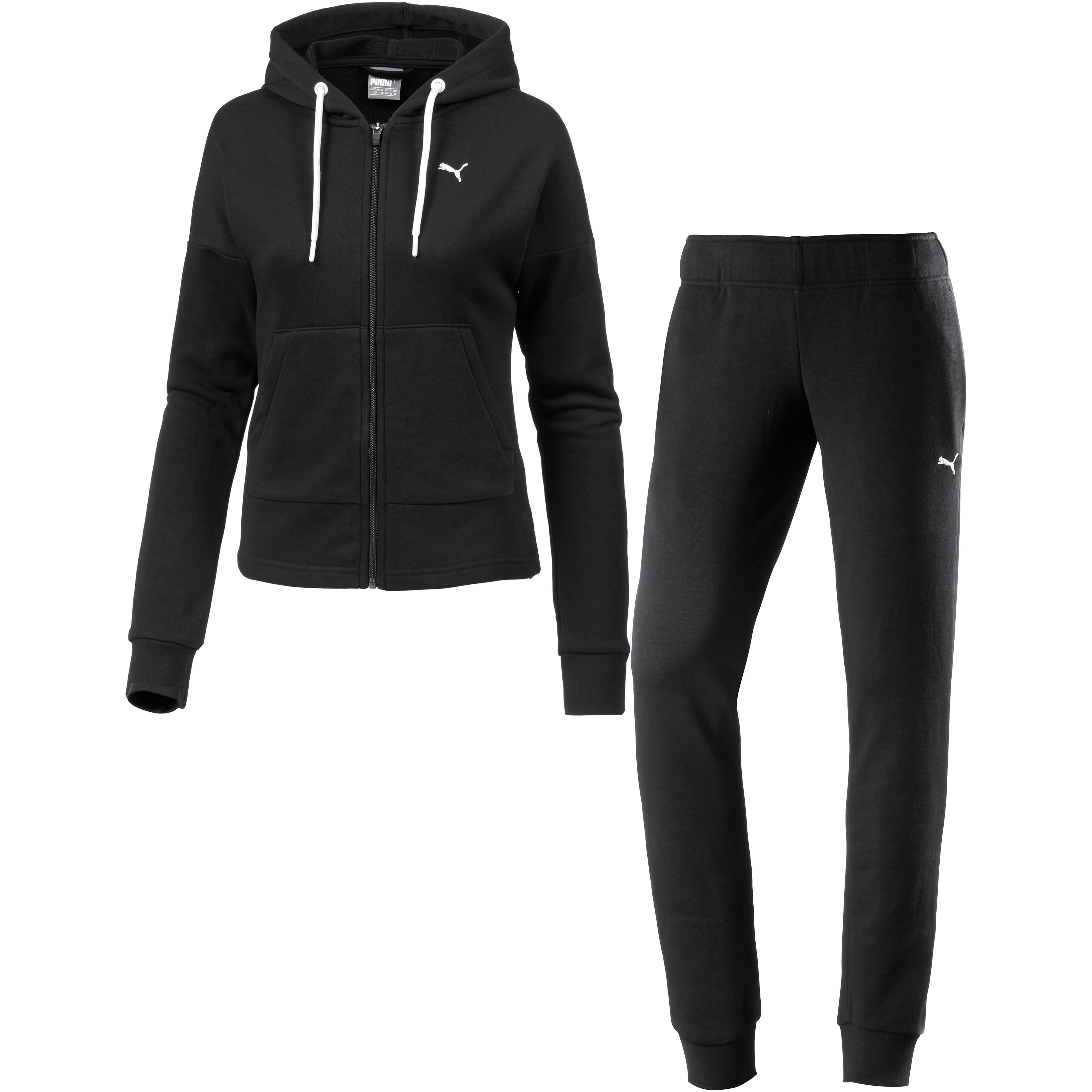PUMA Classic Trainingsanzug Damen cotton black-puma black im Online Shop  von SportScheck kaufen