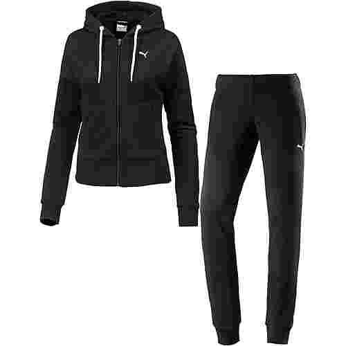 puma classic trainingsanzug damen cotton black puma black im online shop von sportscheck kaufen. Black Bedroom Furniture Sets. Home Design Ideas