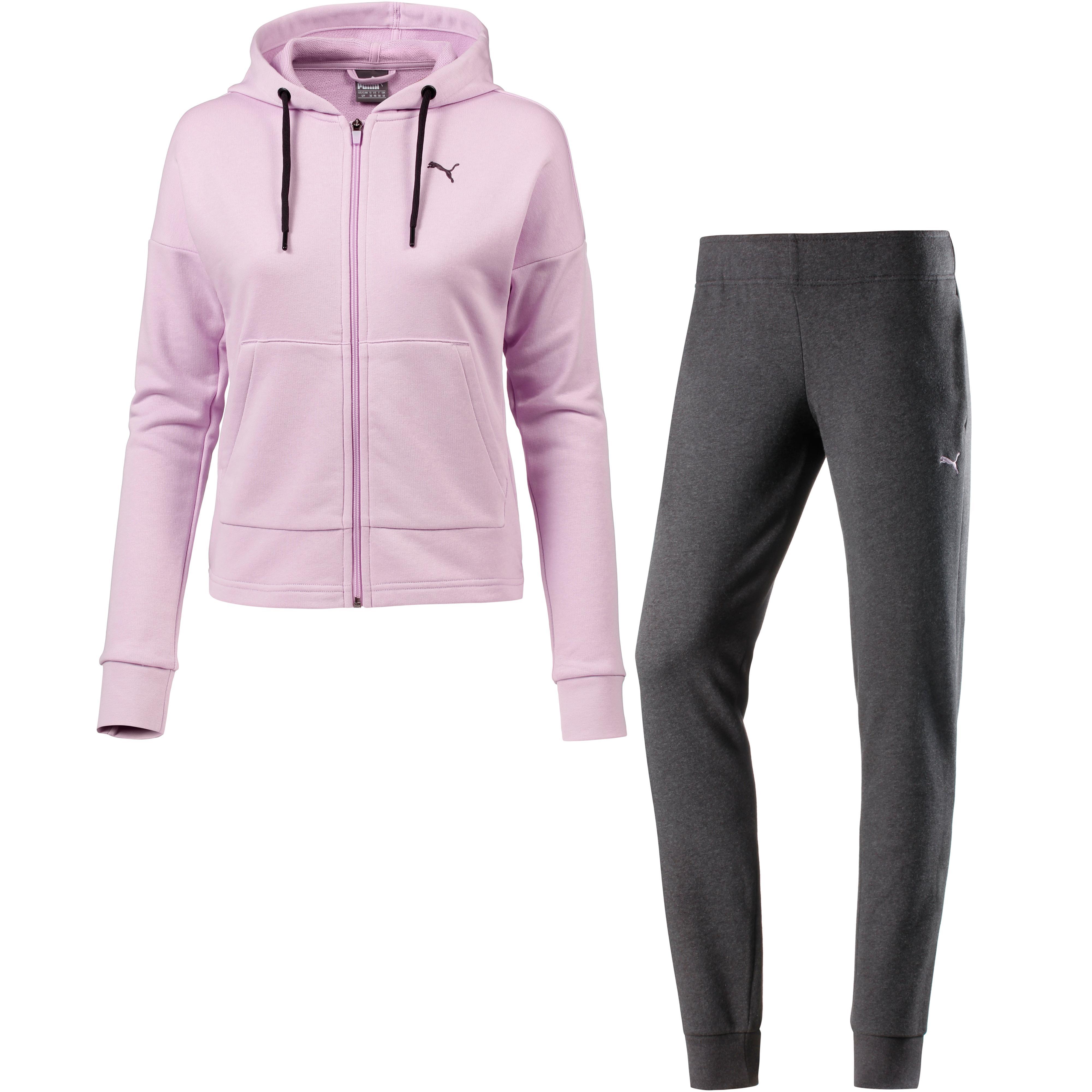 PUMA Classic Trainingsanzug Damen winsome orchid-dark gray heather im Online Shop von SportScheck kaufen