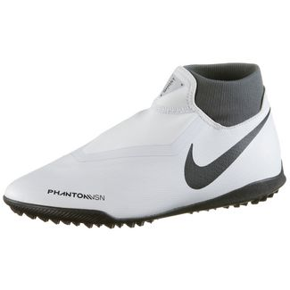 Nike Phantom VSN ACADEMY DF TF Fußballschuhe wolf grey-mtlc dk grey-dk grey-lt crimson-pure platinum
