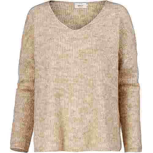 Only V-Pullover Damen sand