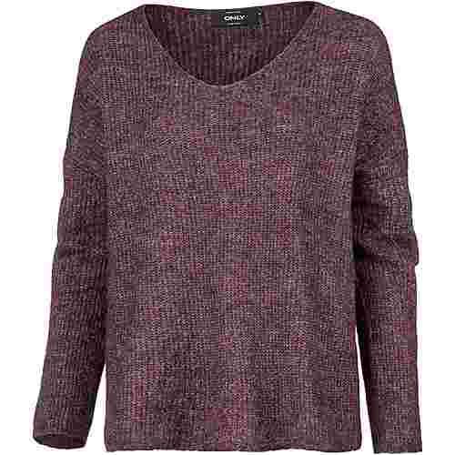 Only V-Pullover Damen potent purple