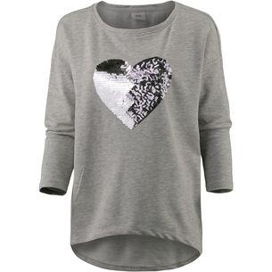 Only Sweatshirt Damen light grey melange