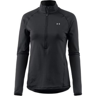 Under Armour Coldgear Armour Graphic Funktionsshirt Damen black-white-metallic silver