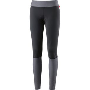Löffler Fusion WS Softshell Warm Fahrradtights Damen schwarz/grau melé