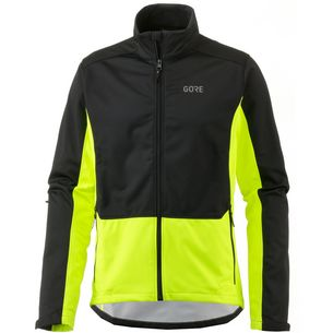 GORE® WEAR R3 WINDSTOPPER® Classic Thermo Laufjacke Herren black-neon-yellow