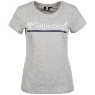 hummel Hml Perla T-Shirt Damen grau / blau / weiß