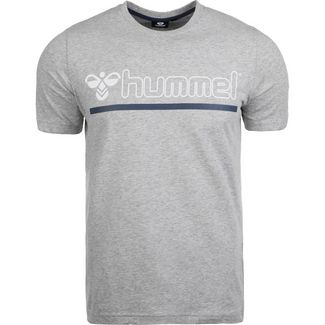 hummel Hml Brick T-Shirt Herren grau / blau / weiß
