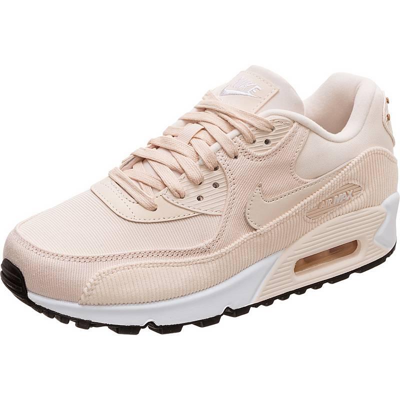 low priced 67196 272f9 czech nike air max 90 leather sneaker damen rosa weiß 0b218 ffb30
