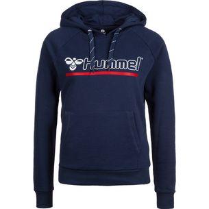 hummel Hml Leisurely Kapuzenpullover Damen blau / rot / weiß