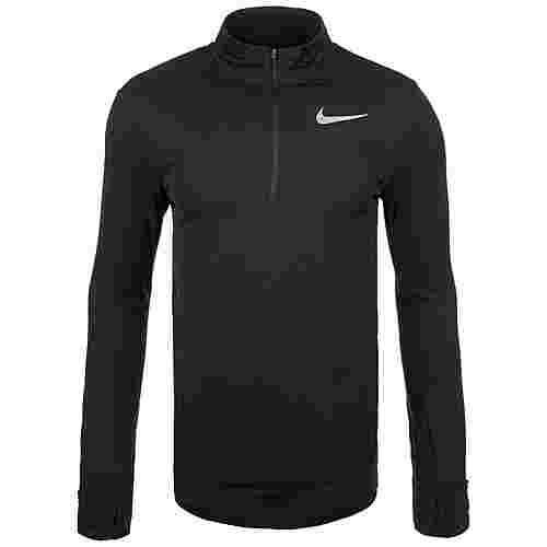 Nike Therma Sphere Half-Zip Laufshirt Herren schwarz