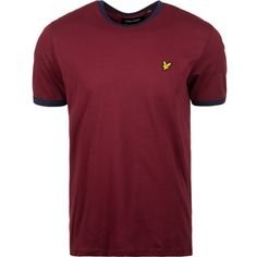 Lyle & Scott Ringer T-Shirt Herren bordeaux / blau