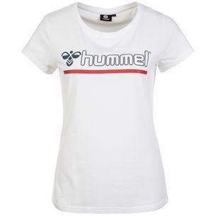 hummel Hml Perla T-Shirt Damen weiß / rot / blau