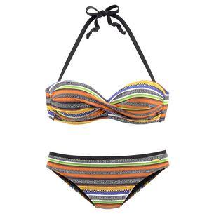 BRUNO BANANI Bikini Set Damen schwarz-orange