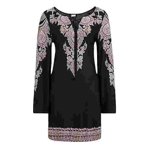 Lascana Jerseykleid Damen schwarz-bedruckt