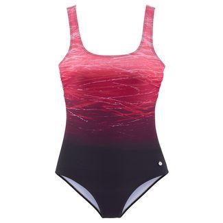 Lascana Badeanzug Damen rot-bedruckt