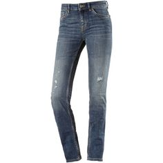 TOM TAILOR Elsa Straight Fit Jeans Damen destroyed mid stone wash