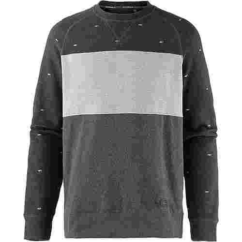 O'NEILL Sweatshirt Herren black aop w-blue