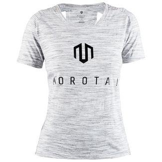 MOROTAI Performance Basic Eye T-Shirt Damen Grau Melange
