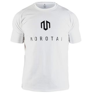 MOROTAI Brand Basic T-Shirt T-Shirt Herren Weiß / Schwarz