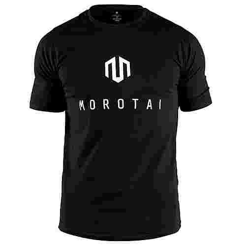 MOROTAI Brand Basic T-Shirt T-Shirt Herren Schwarz / Weiß