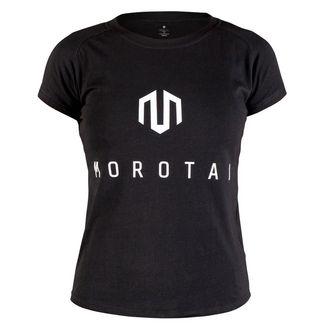 MOROTAI Premium Basic Brand T-Shirt T-Shirt Damen Schwarz / Weiß