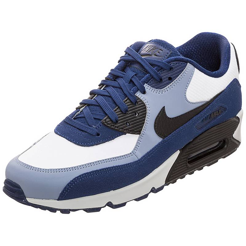 watch 8b250 93da7 ... reduced nike air max 90 leather sneaker herren blau schwarz 62d71 85479