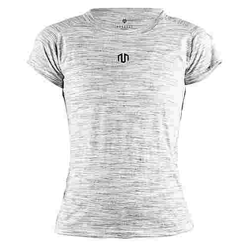 MOROTAI Performance Basic Hole T-Shirt Damen Grau Melange