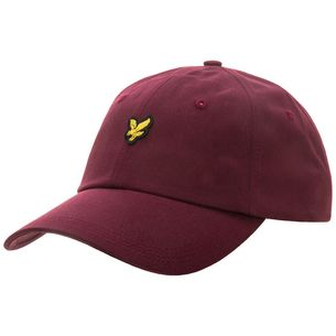 Lyle & Scott Cotton Twill Baseball Cap Herren bordeaux