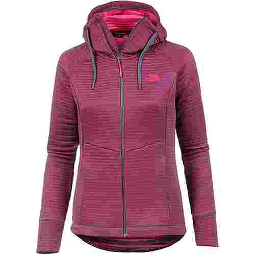 The North Face HIKESTELLER MD Fleecehoodie Damen GRISAILLE GRY/ATOMIC PINK