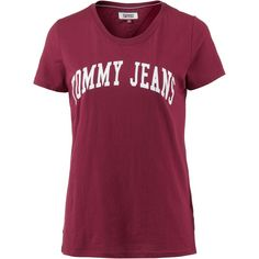 Tommy Jeans Clean Logo Tee T-Shirt Damen rumba-red