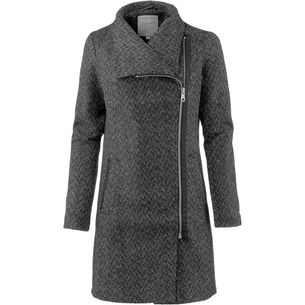 TOM TAILOR Wollmantel Damen black grey herringbone