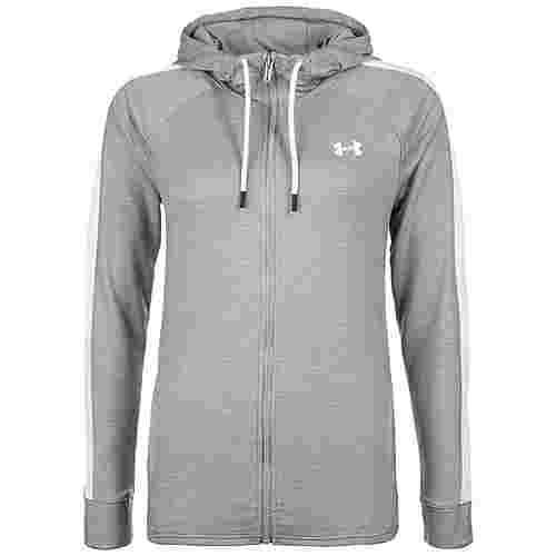 Under Armour AllSeasonGear Featherweight Fleece Trainingsjacke Damen grau / weiß