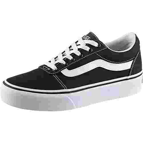 Vans Ward Platform Sneaker Damen black-white