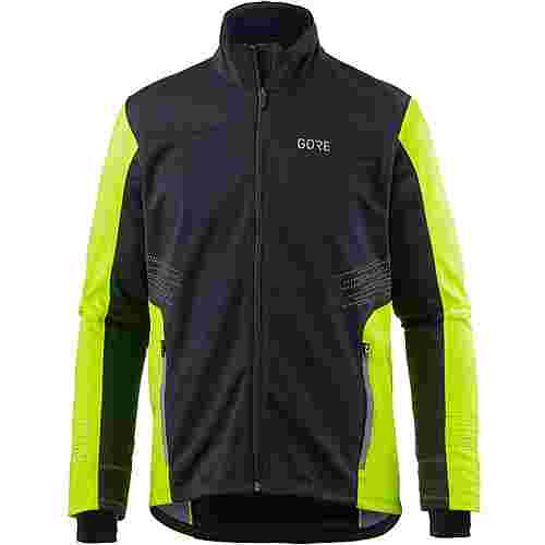 GORE® WEAR R5 WINDSTOPPER® Laufjacke Herren black-neon-yellow