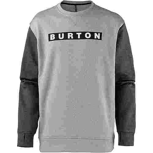 Burton Oak Sweatshirt Herren momument heather-true black