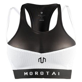 MOROTAI Performance Mesh Strap Bra Sport-BH Damen Weiß