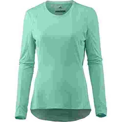 adidas Supernova Laufshirt Damen clear mint
