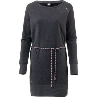Mazine Langarmkleid Damen black melange