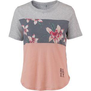 Roxy T-Shirt Damen CHARCOAL HEATHER FLOWER FIELD